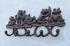 格嘉睿尔铸铁工艺铁艺挂钩浮雕挂钩墙壁装饰品五蛙图欧洲设计