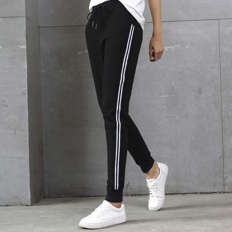 Korean slim thin casual pants female trousers 2018 spring and autumn new wild sports straight feet harem pants tide