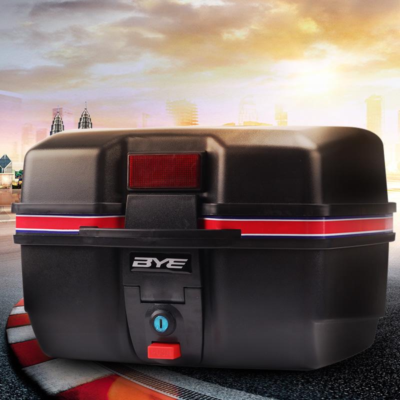 BYE摩托车后备箱加厚电动车尾箱电瓶车工具箱储物箱子特大号通用