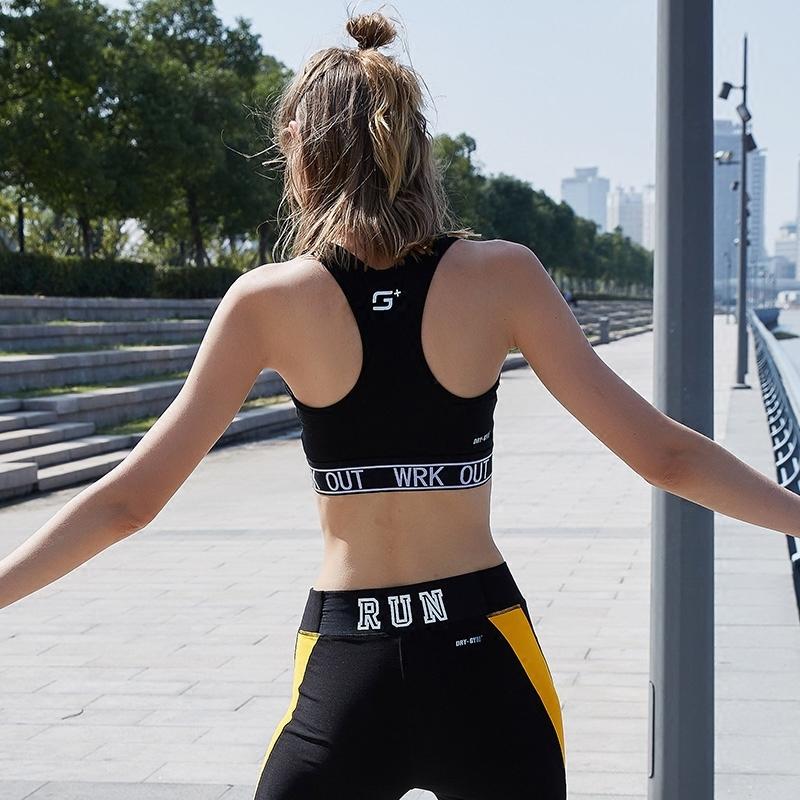 马威运动内衣女防震跑步聚拢定型防下垂背心瑜伽速干文胸专业bra