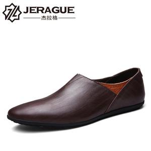 夏季皮鞋男士真皮韩版休闲鞋英伦潮鞋子板鞋豆豆鞋男鞋尖头爸爸鞋