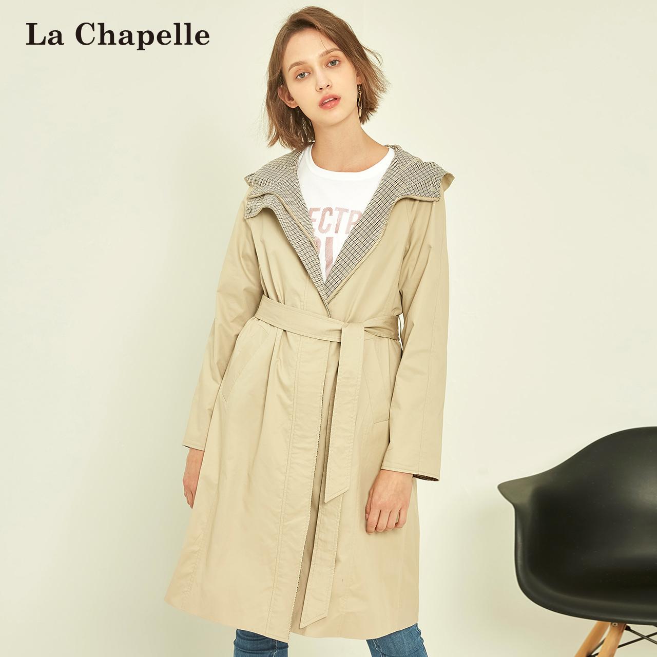 风衣女士2018秋季新款春韩版连帽收腰修身显瘦外衣长袖中长款外套