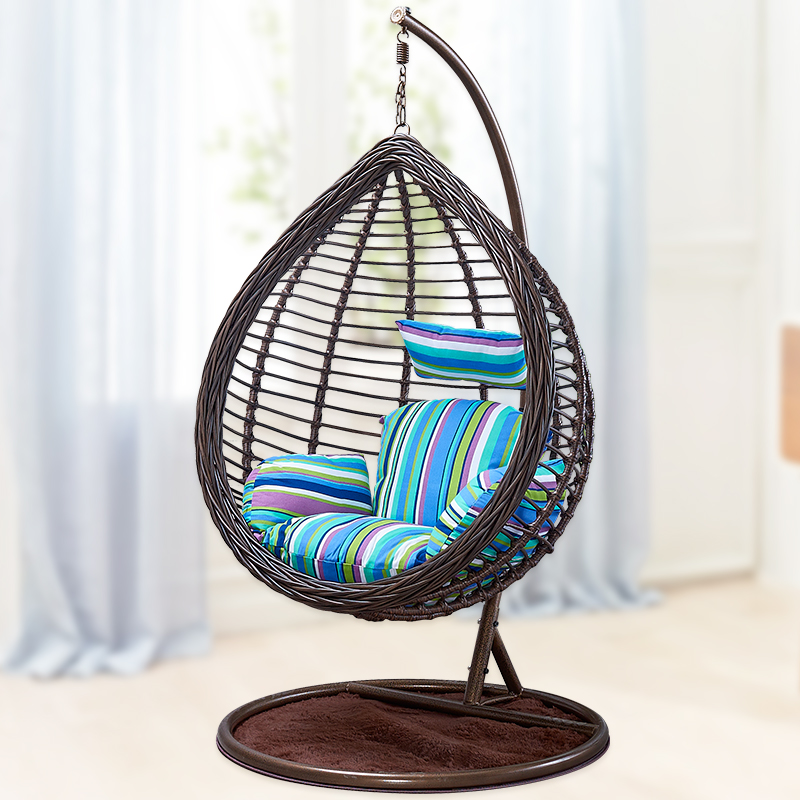 Hanging Chair Hanging Basket Rattan Chair Adult Indoor Swing Rocking Chair  Double Balcony Single Nest Loon Chair Hammock ...