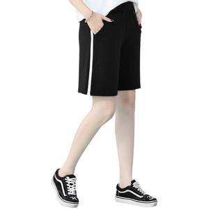 三桔运动短裤女 2018夏季新款大码四分休闲裤韩版宽松直筒五分裤