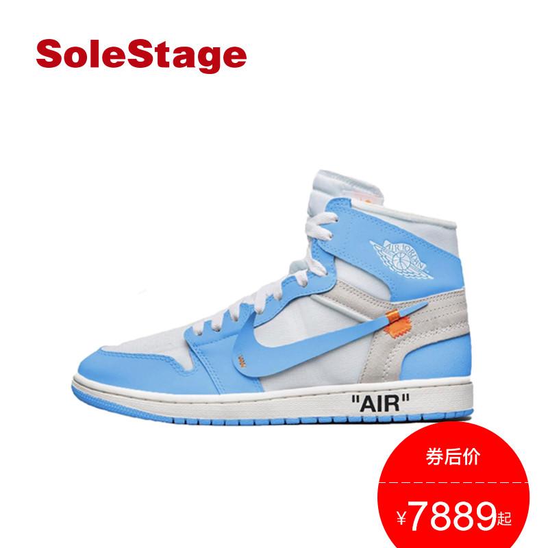 Air Jordan 1 x off white AJ1北卡蓝男女篮球鞋 nike联名运动鞋
