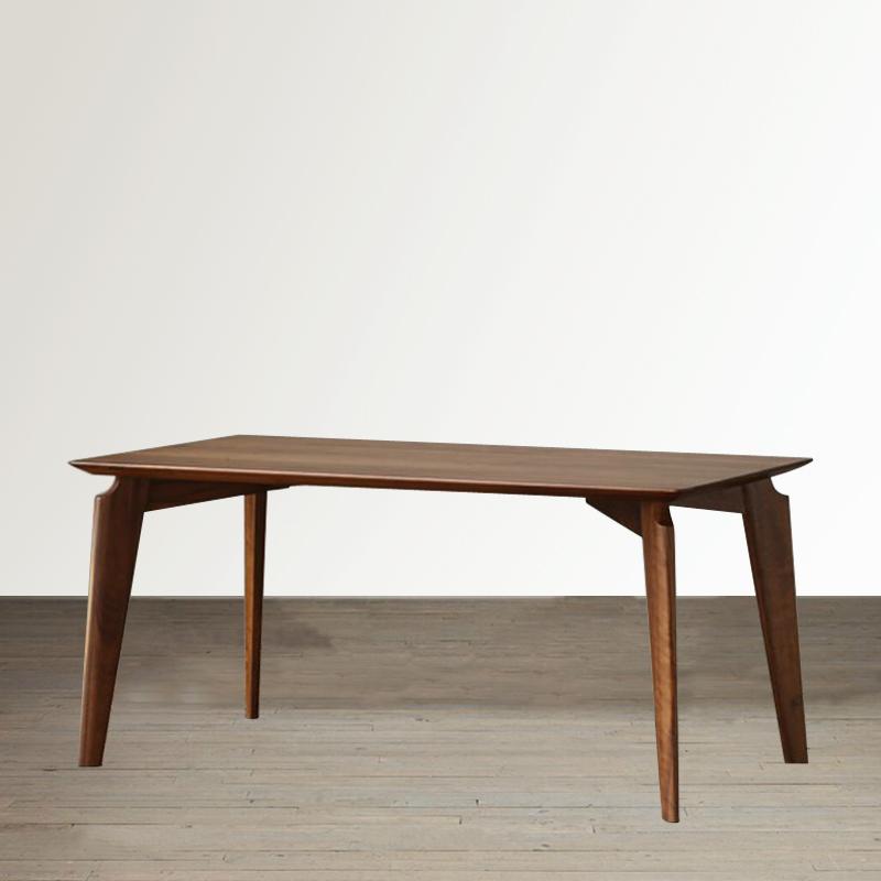 北美黑胡桃木餐桌北欧风格全实木书桌会议桌原木大板工作台电脑桌