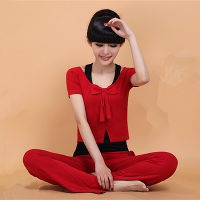 Korean fashion yoga clothes three-piece new ladies dance sports clothing Modal cotton thin fitness clothing