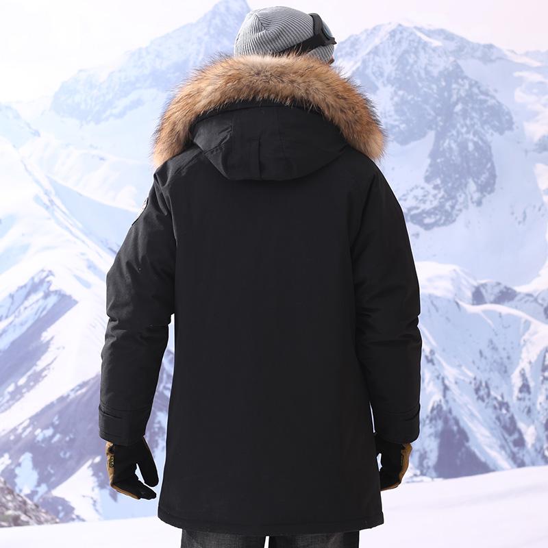 雅鹿男士羽绒服 加厚中长款外套