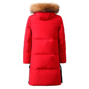 雅鹿2019冬装新款韩版时尚加厚羽绒服女中长款过膝反季清仓外套潮