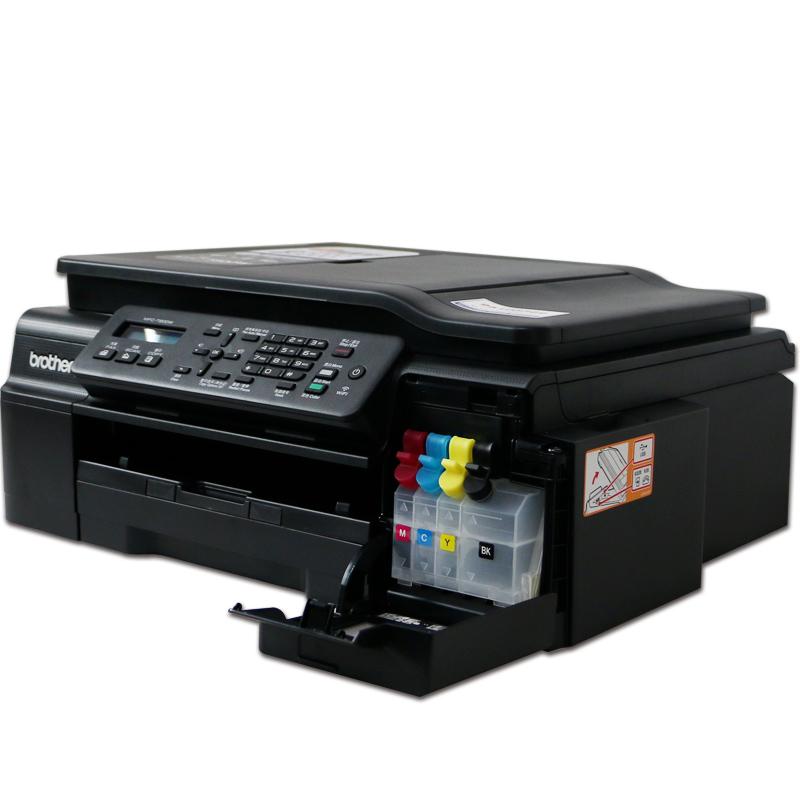兄弟brother MFC-T800W彩色连供喷墨打印机 wifi无线复印扫描多功能四合一传真一体机办公家用商用墨仓式
