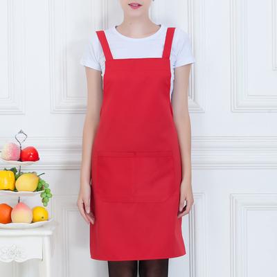 广告围裙定制logo印字美甲奶茶店超市餐厅咖啡厅服务员工作服围腰