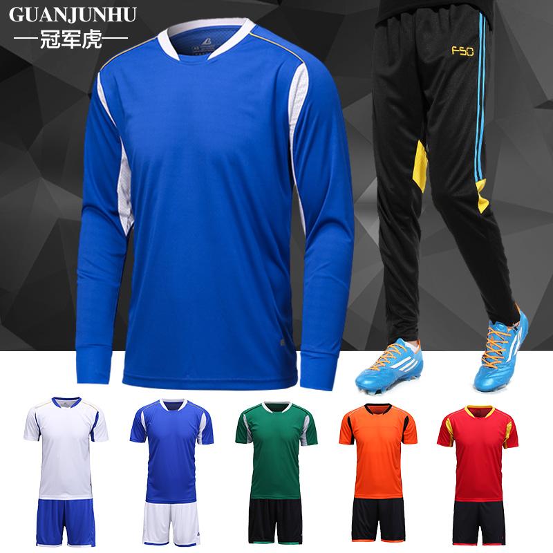 长袖足球服套装 儿童足球训练服长袖套装 定制短袖足球衣足球队服产品展示图4