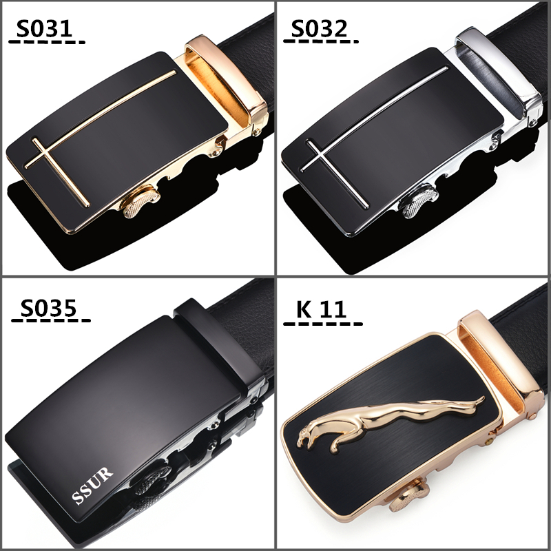 Men's leather belt belt automatic buckle belt leather genuine young and middle-aged business Korean tide casual fashion belt