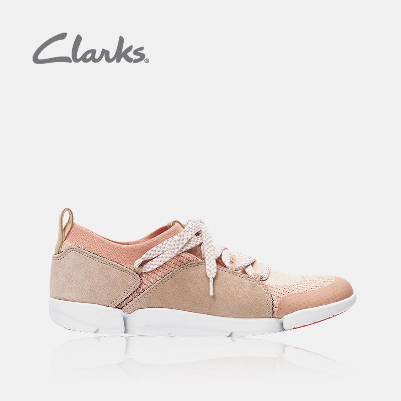 clarks其乐18秋季女鞋Tri Amelia情侣透气拼接网面系带休闲单鞋