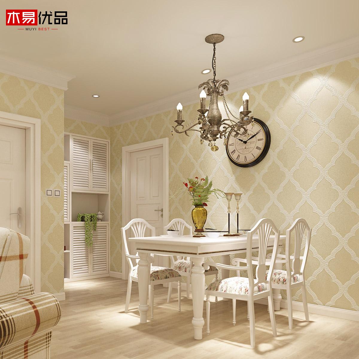 【3d进口环保简约欧式壁纸 卧室无纺布墙纸 客厅电视背景影视墙软包图片