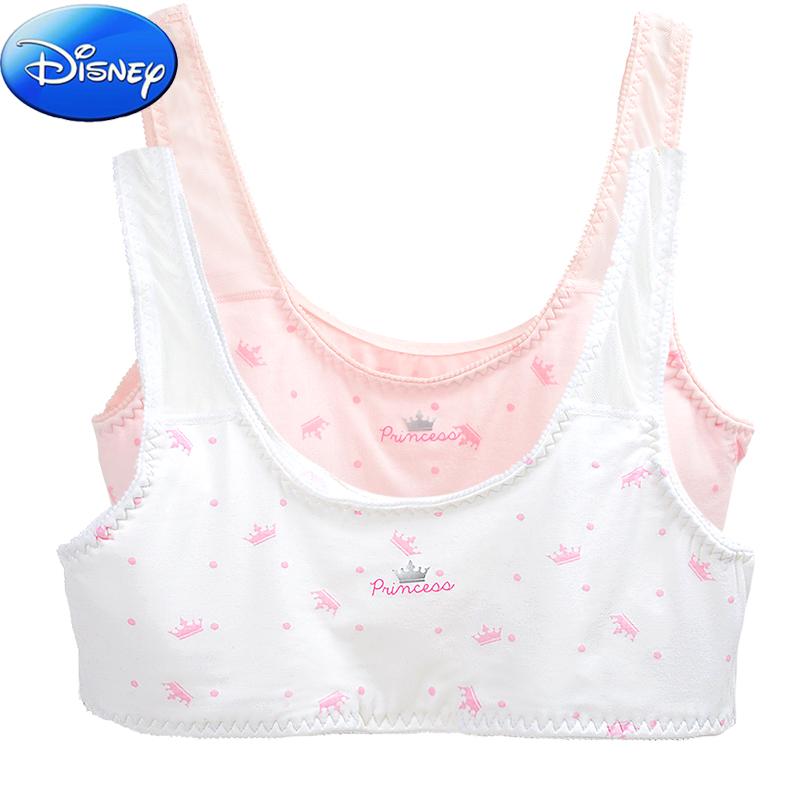 迪士尼少女发育期文胸女童背心抹胸小女孩胸罩学生内衣胸衣夏款