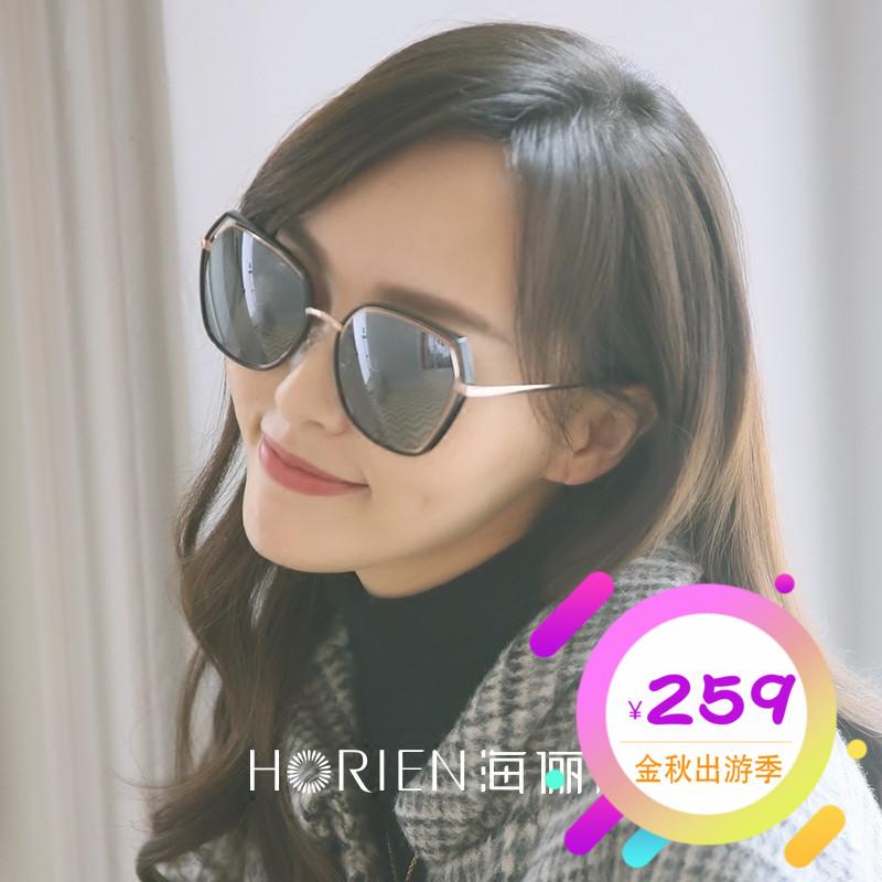 海俪恩2018新款明星潮太阳镜女唐嫣同款眼镜圆脸偏光墨镜N6621