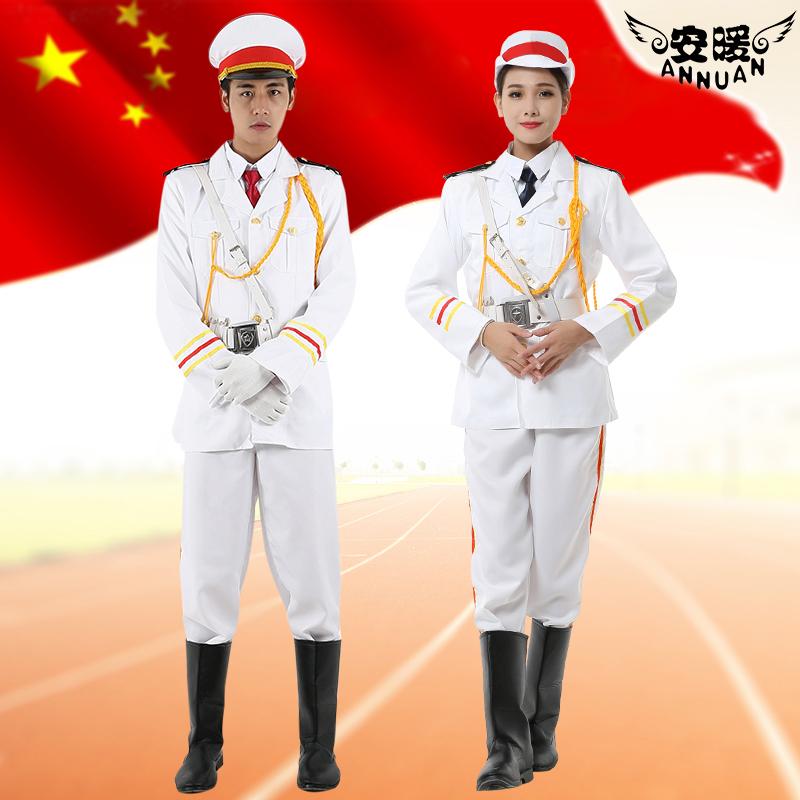 三军仪仗队学生升旗手服装国旗班护卫队军乐队合唱团护旗手服方队