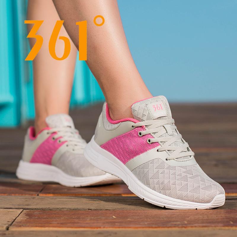 361度 2018夏季款女士休闲透气网面跑步鞋