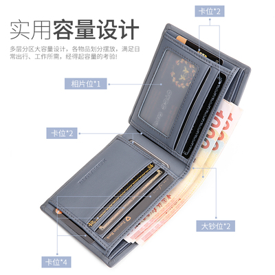 Men Fashion Leather Wallet Short Wallets Hand Bags 139882