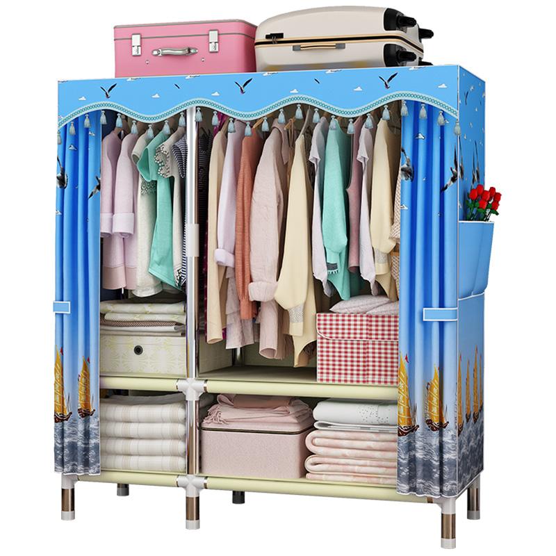 【承重1000+】简易衣柜钢管加粗加固