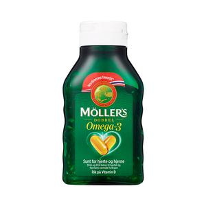 挪威沐乐思Mollers1200mg深海鱼油欧米加3双效软胶囊112粒
