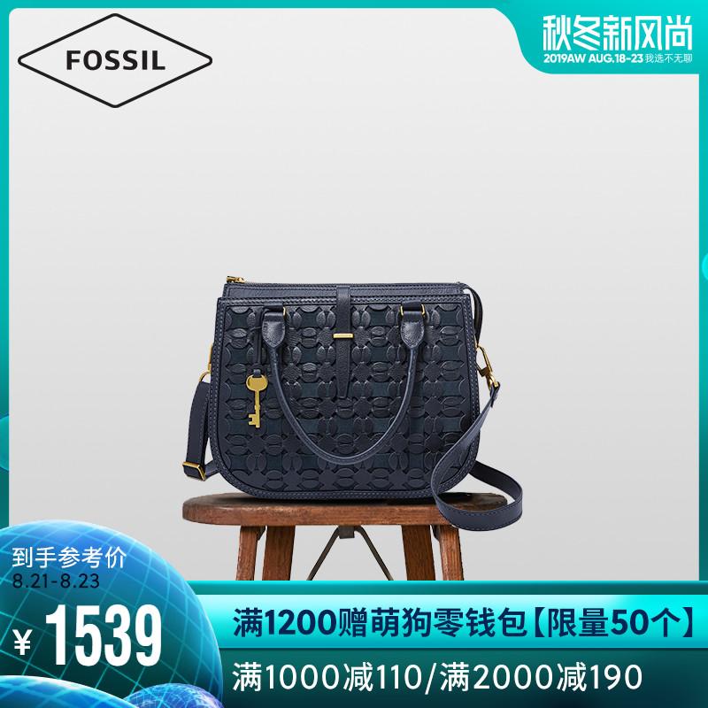 Fossil2019年夏季新款欧美压花女士单肩斜挎手提包ZB7754406