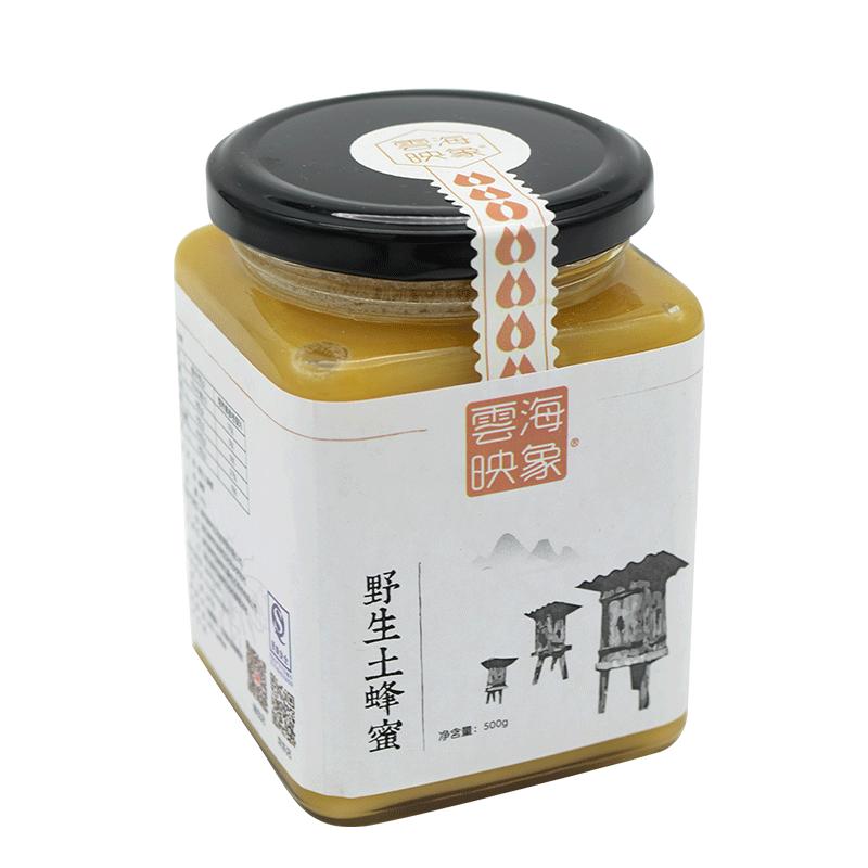 云海映象神农架野生土蜂蜜纯正天然农家自产百花蜜结晶蜜500g包邮