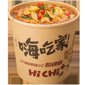 酸辣粉正品嗨吃家6/12桶装海吃螺蛳粉方便面重庆正宗速食粉丝米线