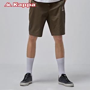 Kappa卡帕男款运动短裤 基础休闲短裤系带跑步|K0812DY30