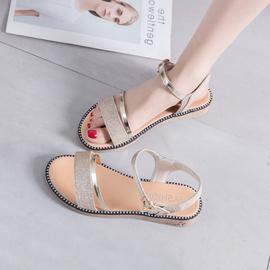 2021新款仙女风凉鞋女夏季百搭平跟平底