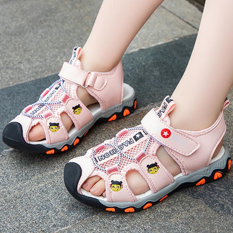 儿童凉鞋男童软底防滑包头鞋宝宝女孩小童鞋