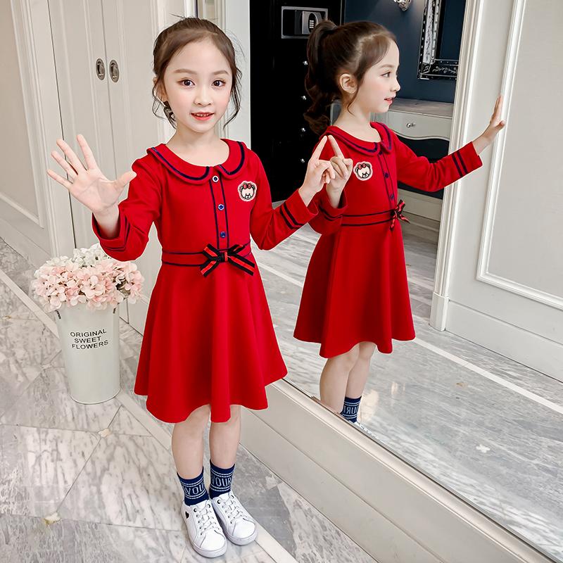 女童春连衣裙小女孩洋气套装公主裙