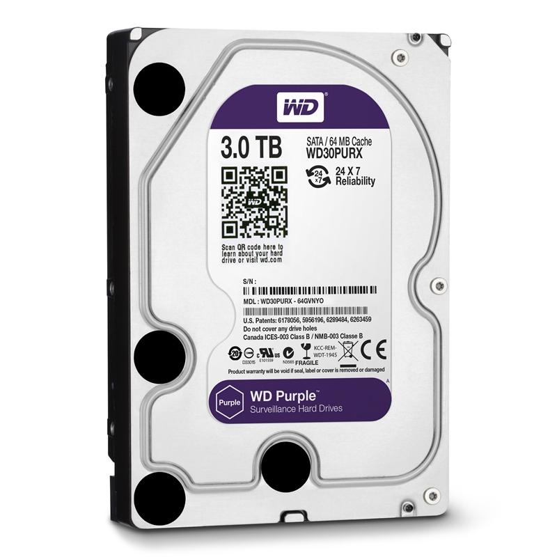 WD-西部数据 WD30PURX 3T紫盘企业级监控盘台式机硬盘64M缓存