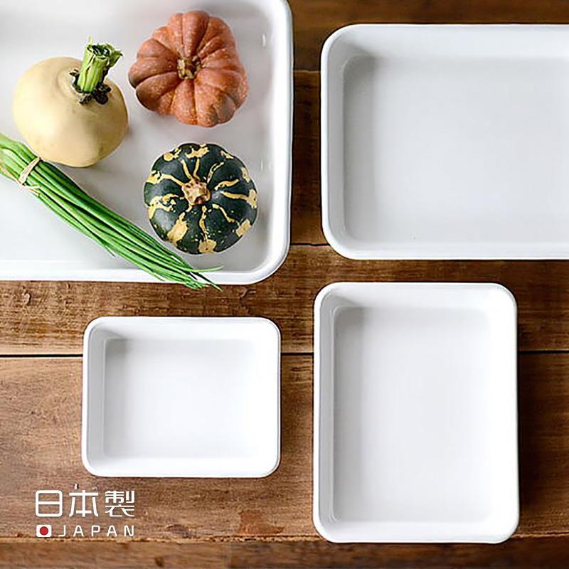野田珐琅日本进口搪瓷烤盘备菜盘食物托盘烘焙冷凉架油炸物沥油网