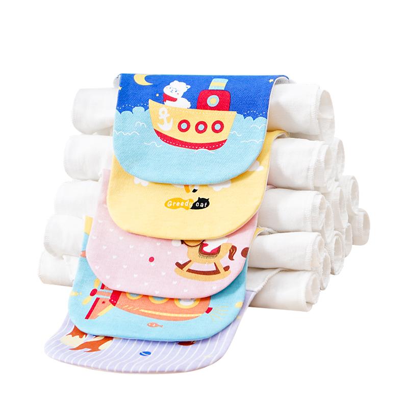寶寶純棉吸汗巾嬰兒童隔汗巾幼兒園繡名字墊背全棉中大童大人大號