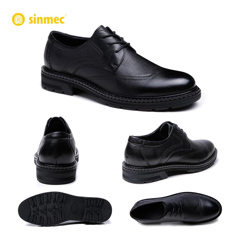 sinmec定制芯迈手工男士休闲商务正装皮鞋布洛克英伦婚鞋真皮春秋