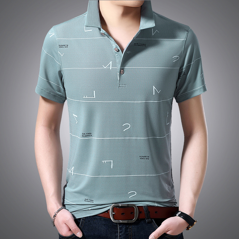 男伦夏季短袖T恤男夏季薄款翻领男士POLO衫纯棉韩版潮流修身t体恤