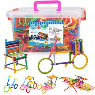 拼插图聪明棒积木玩具儿童益智魔术棒男孩女孩幼儿园宝宝智力开发