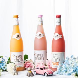 德国奈斯猫冰淇淋果酒气泡酒少女女士低度甜酒草莓樱桃酒果酒礼物