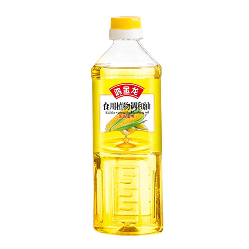 鸿金龙 食用植物调和油500ml小瓶装 实惠装 纯正健康家用食用油