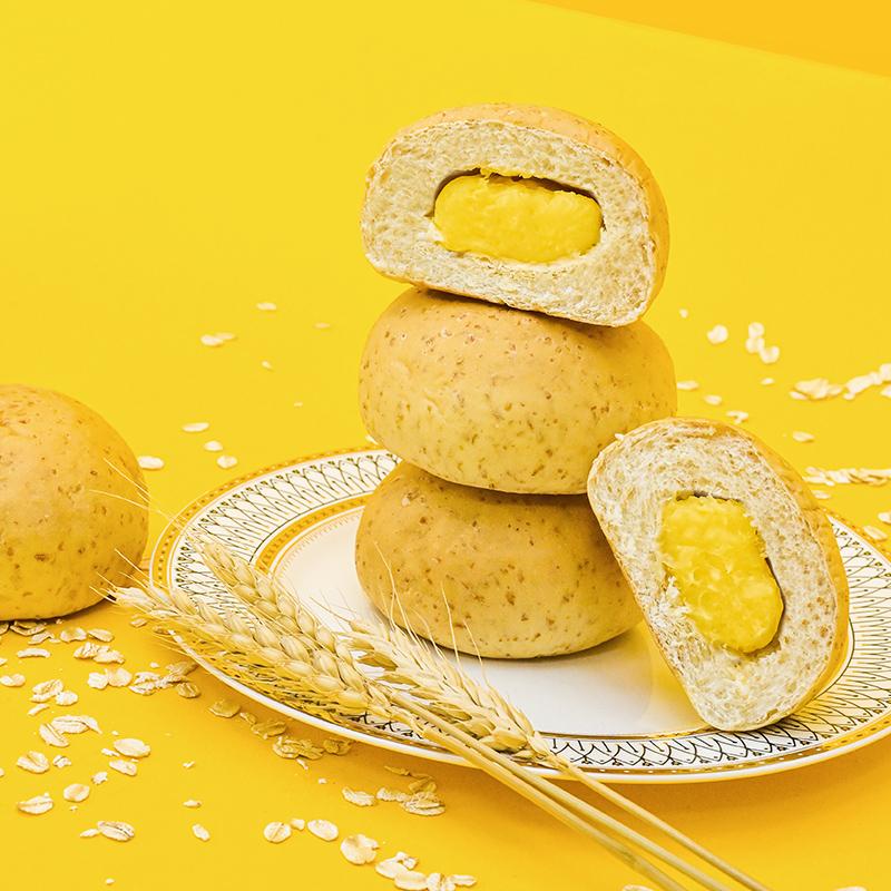 姚太太乳酪夾心纖氣全麥面包早餐代餐網紅面包零食整箱面包500g