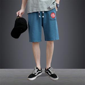 透气短裤男夏季潮牌ins宽松5五分中裤休闲针织篮球裤子潮裤百搭裤