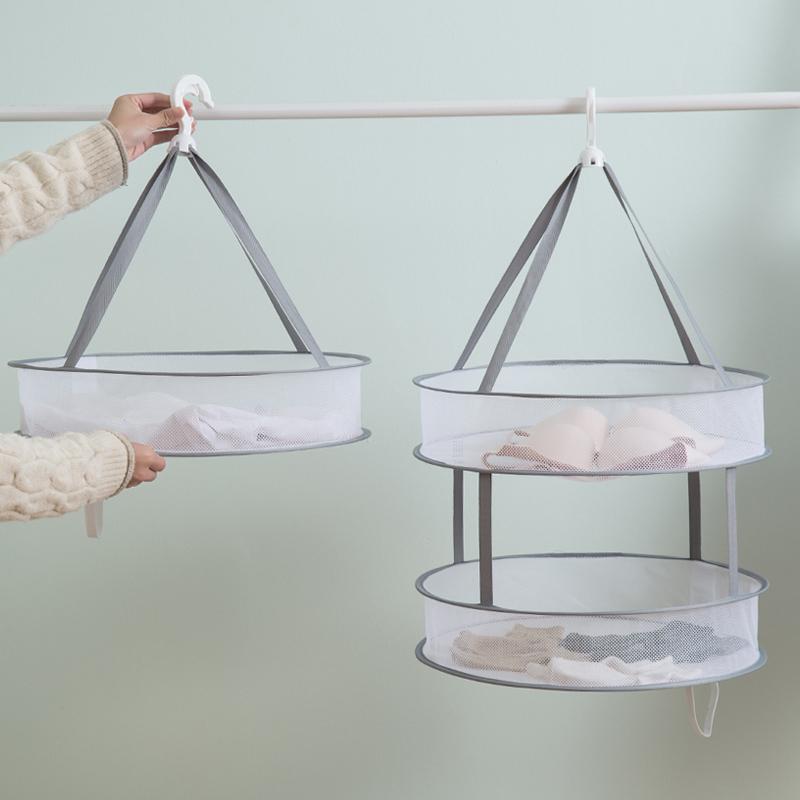 晾衣网晒衣服篮平铺的网兜晾晒家用袜子神器羊毛衫毛衣专用晾衣架