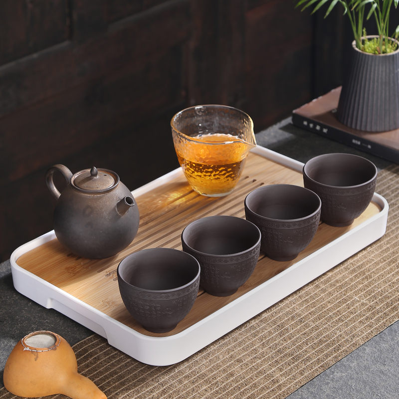 Yixing purple sand cup sample tea cup master cup kung fu tea set single CPU keller of black mud zhu, handless small tea cups