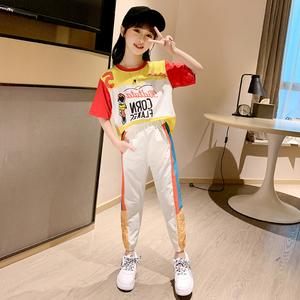 女童套装夏季2020新款女童运动休闲中大童童装网红女孩洋气套装