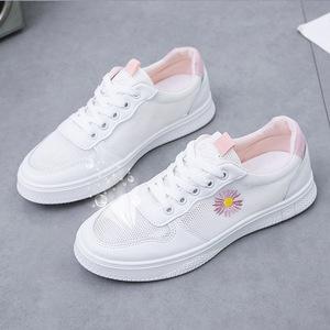 2020夏季爆款小白鞋女鞋小雏菊百搭浅口网面透气学生时尚舒适板鞋