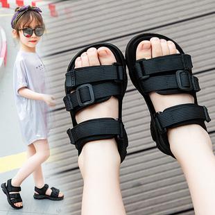 女童公主凉鞋20新款夏季新款软底休闲实心沙滩鞋子小学生儿童凉鞋