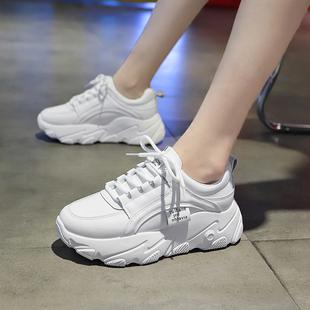 百搭老爹鞋女2020春季新款韩版运动鞋女ins透气增高厚底松糕鞋女