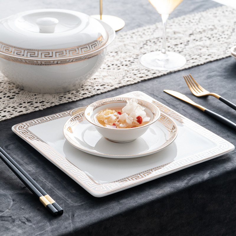 Kinghan palace restaurant dining restaurant supplies hotel set up four new ipads porcelain tableware example room lay the suit